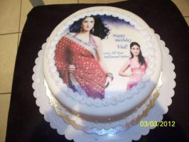 Bollywood Style B-day cake by CoutureCupcakes