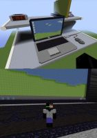 Minecraft Monday- Giant Desk by Biofauna25