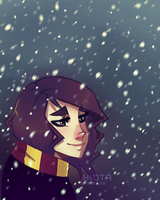 Hermione: Snowy Day by mintwinter