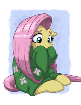 Fluttershy in Over-sized Sweater by LateCustomer