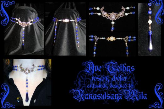 Ave Tethys rosary choker by redLillith