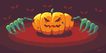 Spooky Pumpkin DigitalPaintingSchool Contest Entry by AerunFE