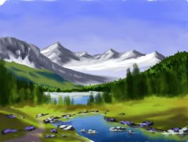 Digital Painting in GIMP 2.6 by ronnietucker