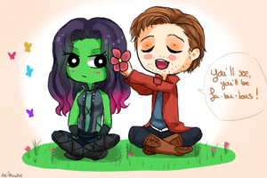 Flowers for Gamora by Reikiwie