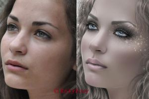 Befor nd after close up satisfy by RubyRosy