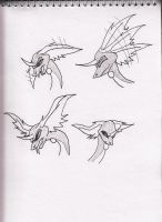 Dragonair sketches by Kitty-of-Doom524
