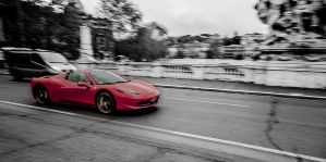 Forza Ferrari! In Rome near the Vatican by stevegek