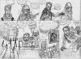 Zombie Years Page 19 Pencils by FWACATA