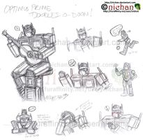 Optimus Prime Rough Sketch Fun by nichan