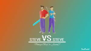 Steve vs. Steve by deadpocket4
