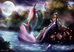 Deva - Iara and Pink Dolphin by Uryen