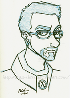 Gordon Freeman Sketch by Vega-Three