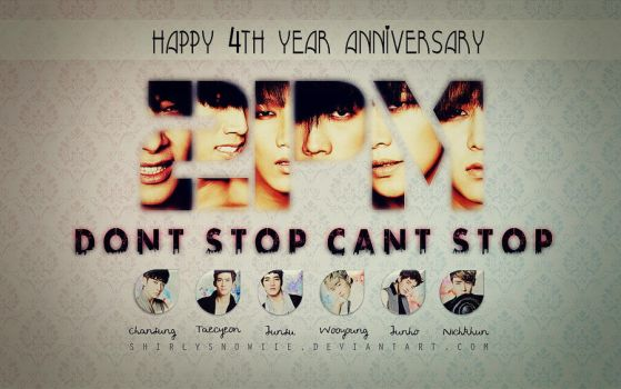 Happy 4th Year Anniversary to 2PM! by shirlysnowiie