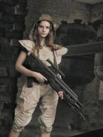 Olga with rifle by ohlopkov