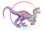 Rainbow Raptor by GlitchMLP