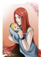 SPOILER: Kushina and Naruto by Arya-Aiedail