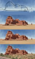 Arches National Park (study) - step by step by Thorsten-Denk