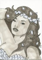 Sketch Card - Poison Ivy by Indy-Lytle