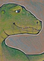 Whimsical Raptor ACEO by Stormslegacy