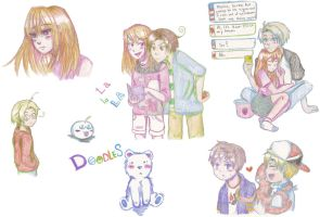 EH: Doodles for Toxic-X-Lust by ExclusivelyHetalia