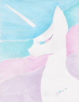 Princess Celestia: Watercolor by Melonie-Moon