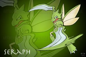 Seraph the Scyther - Request for X-DarkHunter-X by Akysi
