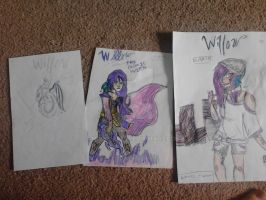 3 unfinished covers to Willow by mooni-art8
