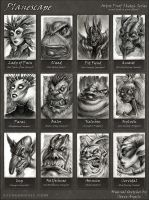 Planescape Artist Proof sketches by SteveArgyle