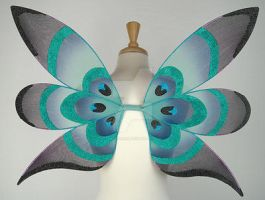 Small Peacock Fairy Wings by glittrrgrrl
