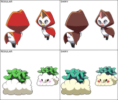 Two slight redesigns - sprites by Pokekoks