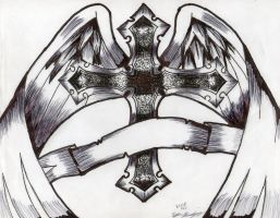winged cross by Exile-062