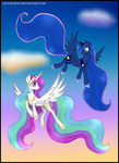 Celestia and Luna by Estherenn