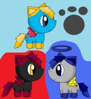 Midnight,scarlet And Cuddles Mlp Forms by pokemonlpsfan