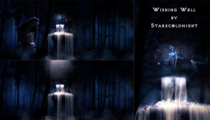 Wishing well premade BG by starscoldnight by StarsColdNight