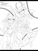 Sketch .: BRS and DM :. (Sonic Chars) by JuliaTheDragonCat