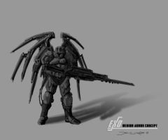 Male Light Armor Concept by psypher101