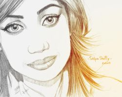 Shilpa Shetty close up - 2nd version by dharma-dvg