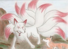 Nine tailed fox by Cane-McKeyton