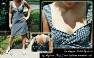 The Gingham Rockabilly Dress by Kagitsune