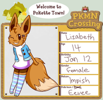 PKMN Crossing: Lizabeth by Eversparks