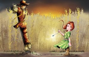 Scarecrow and Girl by aminamat