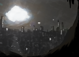 Neverned city by AtomicWarpin