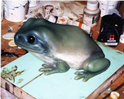 Tree frog in silicone by DragonArmoury