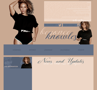 Free Layout ft. Beyonce by Katie-Salvatore