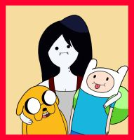 Fin Jake and Marceline by Retro-Eternity