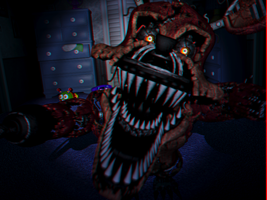 Room Nightmare Foxy JumpScare 3D by Cosmicmoonshine
