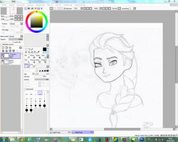 WIP - Frozen Fan Art (digital art version) - Elsa by JackFrostOverland