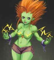 SF Tribute, Female Blanka by hybridmink