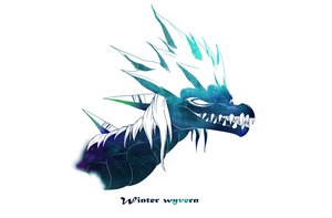 Winter Wyvern wallpaper by WingedWilly