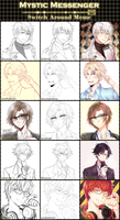 Mystic Messenger Switch-Around Meme by Akumakina
